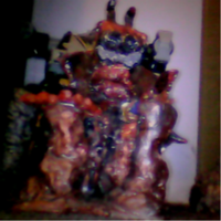 JACKLE NIGHTMAREN CLAY STATUE FRONT by me by DEVIOUS-DISCORD-RP