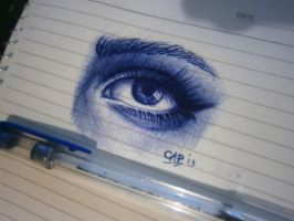 ballpoint pen drawing by cLoELaLi11