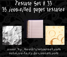 Texture Set 33 - Paper by solstice-fairy