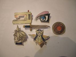 Animania Cosplay badges by Wakaleo