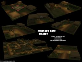 Military Base Tileset by JimmyMarshall