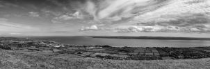 Knockagh Panorama Black and white by marklewisphotography