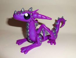 Cute Purple Dragon by ByToothAndClaw