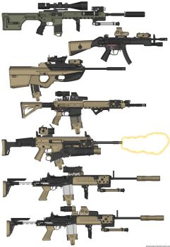 PTS M4A1  MP5  F2000  HK417  ACR  M14EBR  M14EBR by bravo26