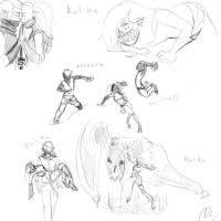 actionsketches wivars and kalika by im-Rem