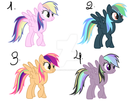 Dashie Recolors Adopts! (CLOSED) by MissMagicalWolf