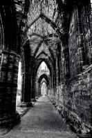 Whitby Abbey - corridor by Yupa