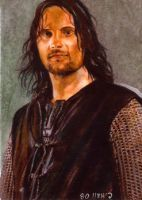 Aragorn card by charles-hall