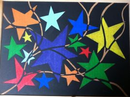 Colorful Stars by caoeri