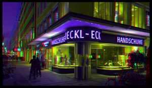 Roeckl-Eck Gloves 3D ::: HDR Anaglyph Stereoscopy by zour