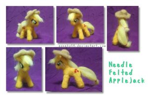 Needle Felted Applejack by aoneko54