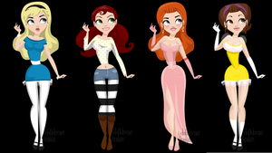 Retro Disney Females 2 by abi-adores-art
