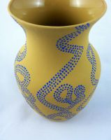 Yellow Dotted Vase by ParisStylesDesigns