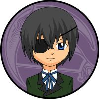 Ciel Phantomhive Black Butler Button by Bladerdani
