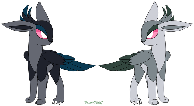 Soareon (Female) - Flying Fakemon Eeveelution by Faith-Wolff