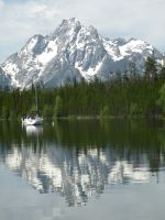 Reflection of Mt Moran by BiohazardCreations