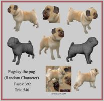 Pugsley the Pug by pandapixel
