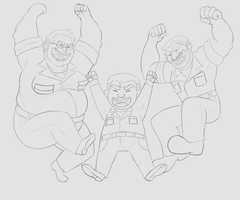 ZENITH- These Three Idiots Again Lineart by Minnie-Salinas