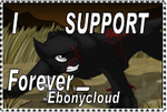 I Support Forever-Ebonycloud by MysteryKittenThe1st