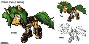 Fallout EQ: Raider Pony Concept by Jeffk38uk