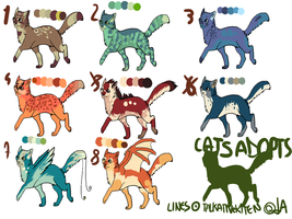 Cat Adoptables OPEN by boobahzone