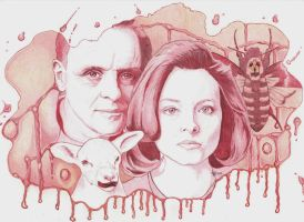 The silence of the lambs Ballpoint pen by Angeliqueperrin