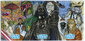 Star Wars sketch card puzzle  Empire Strike Back by mdavidct