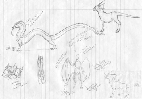 Story and Xotri sketches by VenutianMacaw