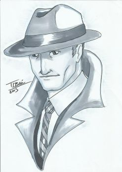 DoodleTu sketch - Dick Tracy by tamtu