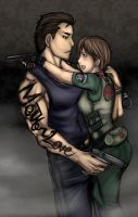 RE0 - billy rebecca hug by buuzen