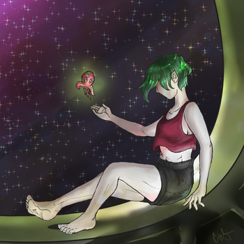 Relaxing IN SPACE by happycatbear