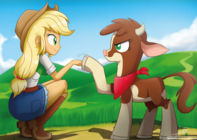 .:Human Pony n' Cow:. by The-Butcher-X
