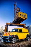 '54 Chevy Panel Truck by pandaonmars