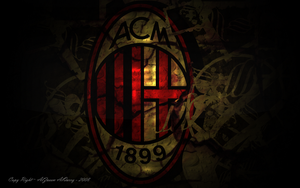 Ac Milan Logo wall by Alz3emAlqarry
