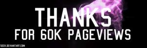 Thanks For 60,000 Pageviews by EdArtGeek