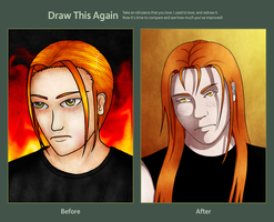 Draw This Again meme: August 2013 vs. March 2015 by JustSilvia