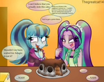 Sonata and Aria: ~Stolen Cake~ by thegreatcat14