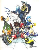 Kingdom Hearts 1 Group Photo by HeartlessXen