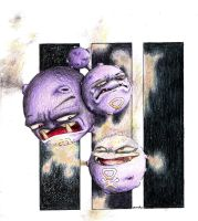 weezing, koffing by wang-POW