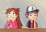 Mabel and Dipper by froste-art