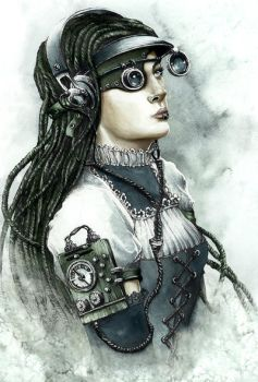 Steampunk Girl by GrimDreamArt