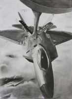 F-22 Raptor Refueling by Kingtiger2101
