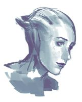 Liara Sketch by TheBoyofCheese