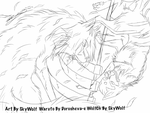 Byakuya Vs Hidan Sketch  by Chibi-Cola-SkyWolf62