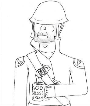 Soldier: A nice mug of 'My boot up your ass.' by patthehedhehog