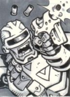 Grimrod Sketch Card by Steevcomix