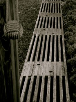 Bench in Black and White by WickedPotter84