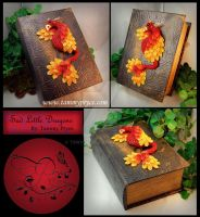 Red Phoenix on Deep Old Wold Book Box by Tpryce