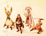 Final Fantasy III Final Party by rafaelventura