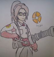 Titan Fortress 2 - Hanji Zoe the Medic by Fil101